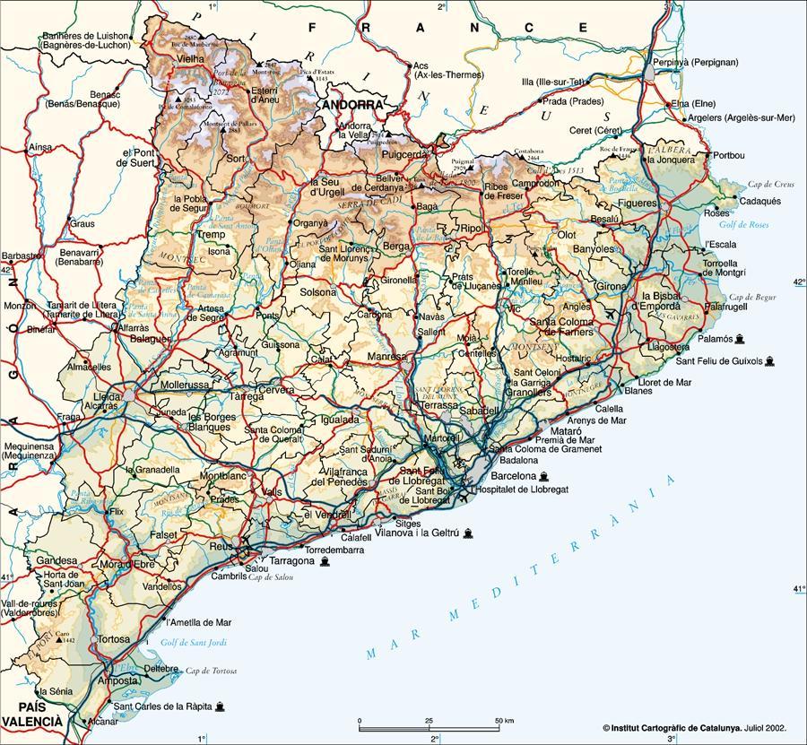 Mapes i plnols de Catalunya  Catalonia Maps Mapas y planos de